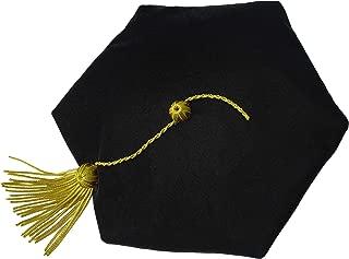 Graduation Doctoral Tam Velvet with Gold Bullion Tassel