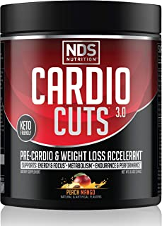 NDS Nutrition Cardio Cuts 3.0 Pre Workout Supplement - Advanced Weight Loss and Pre Cardio Formula with L-Carnitine, CLA, ...