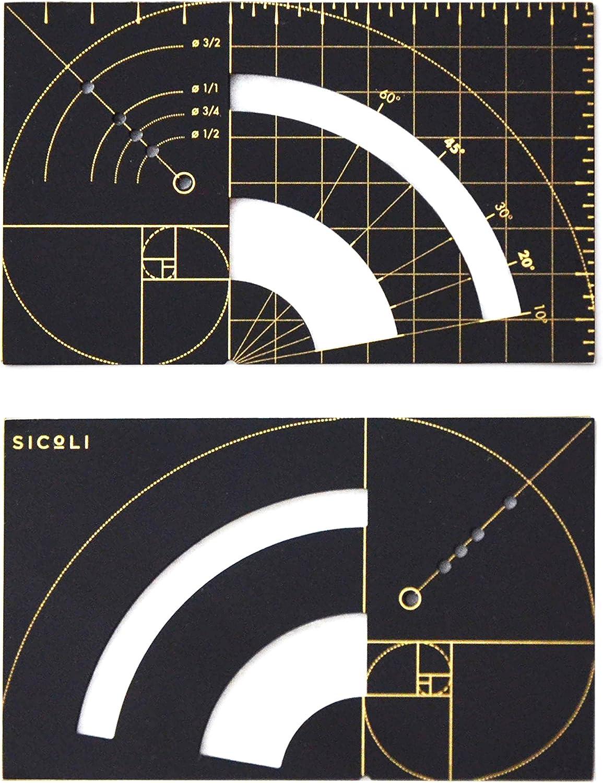 Golden Ruler Designer Brass Latest item Wallet Sequence Rat Mesa Mall Series Fibonacci
