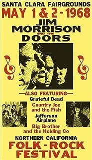 "Jim Morrison and The Doors Folk Rock Festival 13""x22"" Vintage Style Showprint Poster - Concert Bill - Home Nostalgia Decor Wall Art Print"