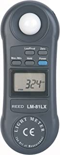 REED Instruments LM-81LX Compact Light Meter, 20,000 Lux / 2,000 Foot Candles (Fc)