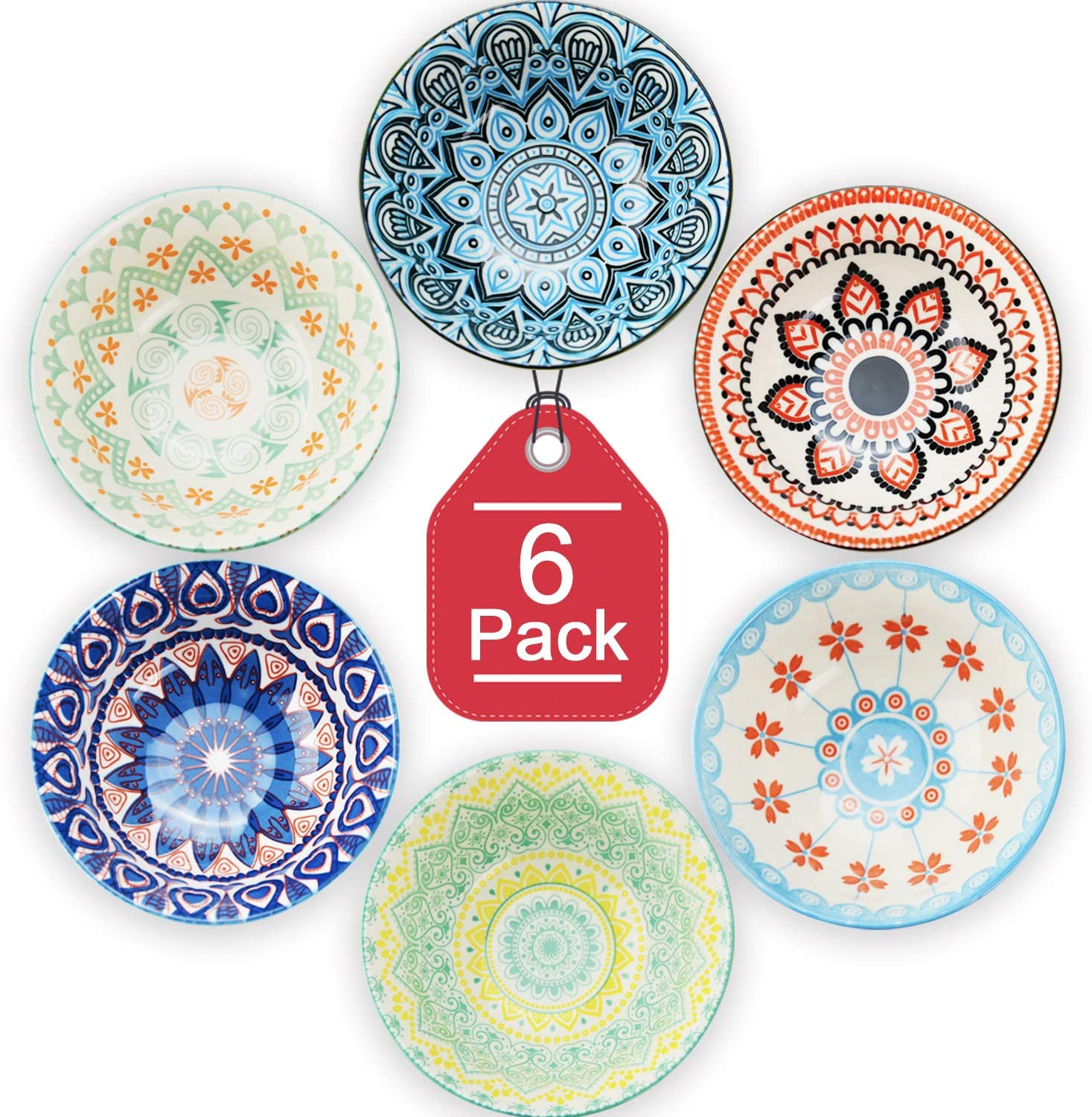 Ranking TOP15 Farielyn-X Oklahoma City Mall 6 Pack 24 Ounce Premium Great Bowls - Porcelain Set C