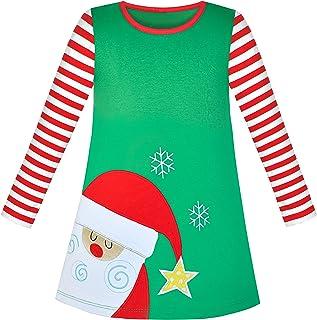 こどもドレス ロング スリーブ クリスマス 雪だるま ホリデー パーティー 110/115/125/130/140/150cm