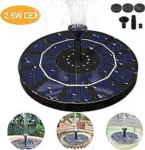 Fuente Solar Bomba,de Agua Solar de 2.5W Fuente Flotador, Flotante Energía Panel Jardín Solar Silicio Monocristalino Kit al Aire Libre Sumergible,Para Pequeño Estanque Fish Tank Decoración del Jardín
