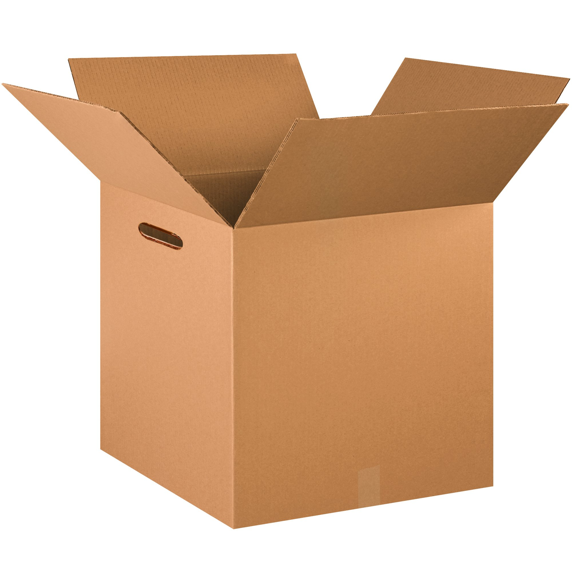24 x 24 x 24 Kraft Pack of 10 BOX USA BHD242424DWHH Double Wall Boxes with Hand Holes
