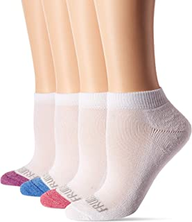 Fruit of the Loom Girls' Little Low Cut with Half Cushion 10 Pack Sock