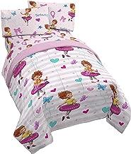 Disney Fancy Nancy Fantastique 4 Piece Twin Bed Set - Includes Reversible Comforter & Sheet Set - Super Soft Fade Resistant Polyester - (Official Disney Product)
