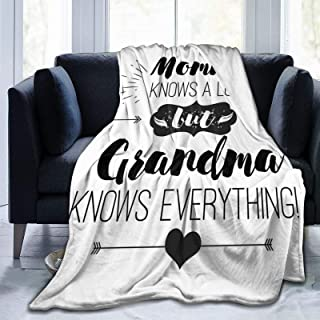 Fluffy Throw Blanket,Arrows and Heart Motifs with Monochrome Quote About Grandparents,Ultra-Soft Micro Baby Blanket Bedroo...