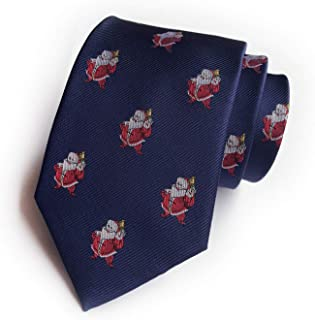 Novelty Tie for Mens Big Boys Fun Merry Christmas Patterned Fancy Necktie by Ctskyte