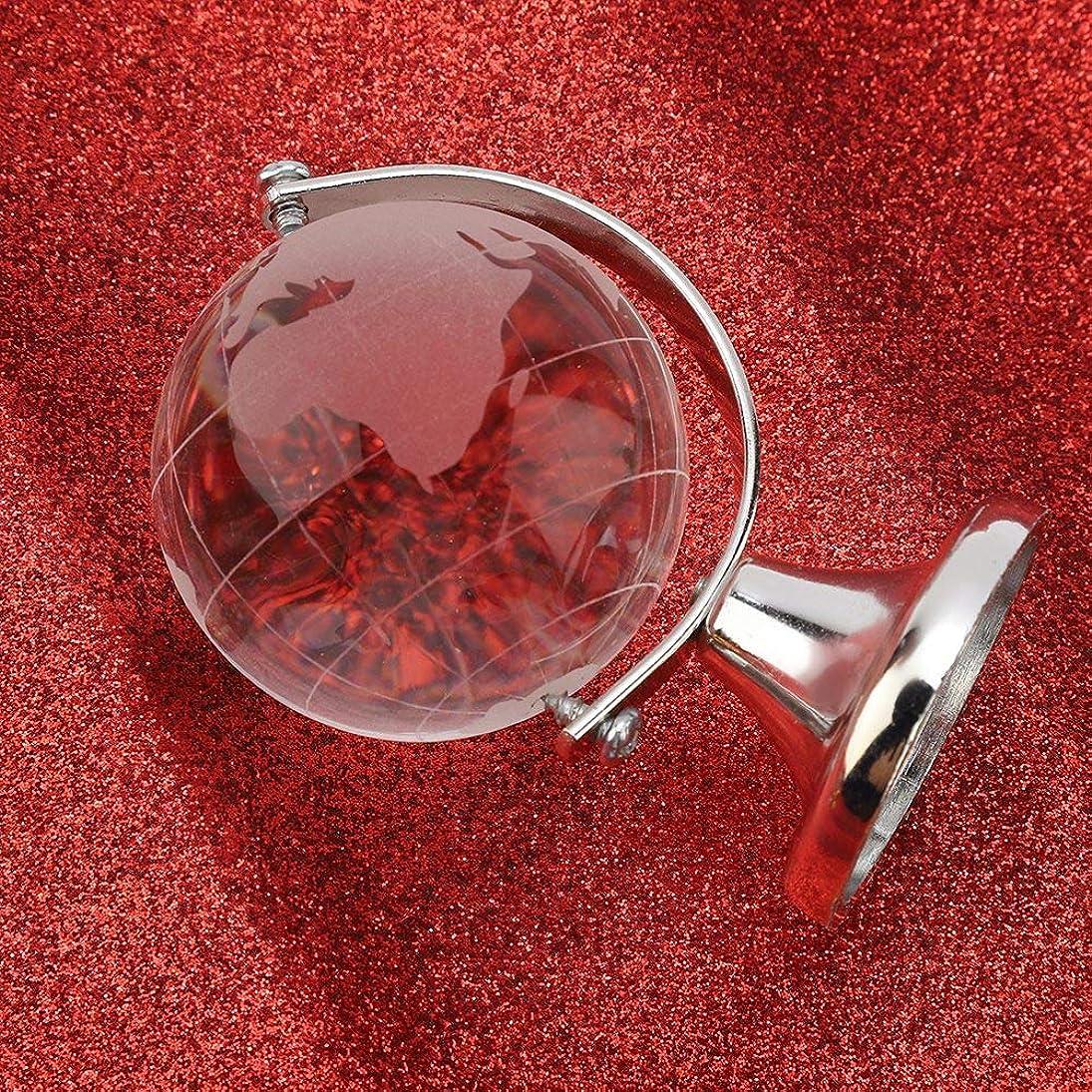 導体部門生まれホームデコレーションラウンドグローブ世界地図クリスタルボール球クリスタルホームオフィスデコレーションクリスタルガラスギフト(Silver)