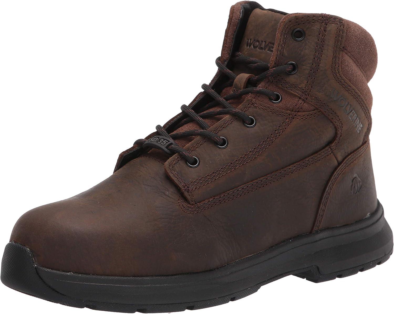 WOLVERINE Nashville-Davidson Mall Regular store Men's Logan ESD Construction Boot 6