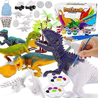 Magicfun Kit de Peinture Créatif Enfants, Dinosaures Figurines à Peindre, 36Pcs Jouets de Dinosaures T-Rex Tricératops Non...