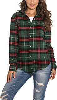 Best womens red and green plaid shirt Reviews