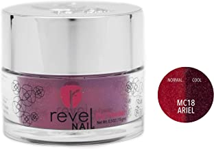 Revel Nail Dip Powder | for Manicures | Nail Polish Alternative | Non-Toxic & Odor-Free | Crack & Chip Resistant | Can Last Up to 8 Weeks | 2 oz Jar | Mood Changing (Ariel, 2oz)
