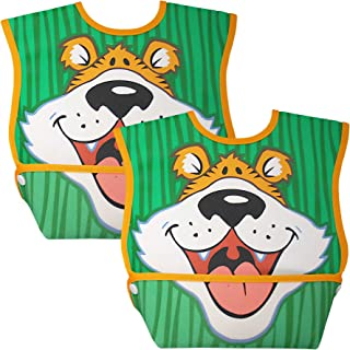 Dex Baby Dura-Bib Big Mouth, 2 Pack, Tiger