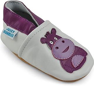 76e18ed9 Zapatos de Bebé – Zapatillas de Cuero Niño Niña – Patucos de Piel con  Elástico para Bebé - Zapatitos Primeros Pasos - Pantuflas Infantiles 0-6  Meses 6-12 ...