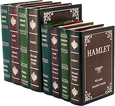 Bellaa 21239 Book Stoppers Box 2 Hamlet Wooden Book Bookends Bookends for Shelves Book Shelf Holder Office Decorative Bookends