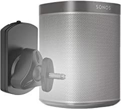 WALI SONOS Speaker Wall Mount Bracket for SONOS Play 1 and Play 3 Multiple Adjustments, Hold up to 22 lbs, (SWM001), Black