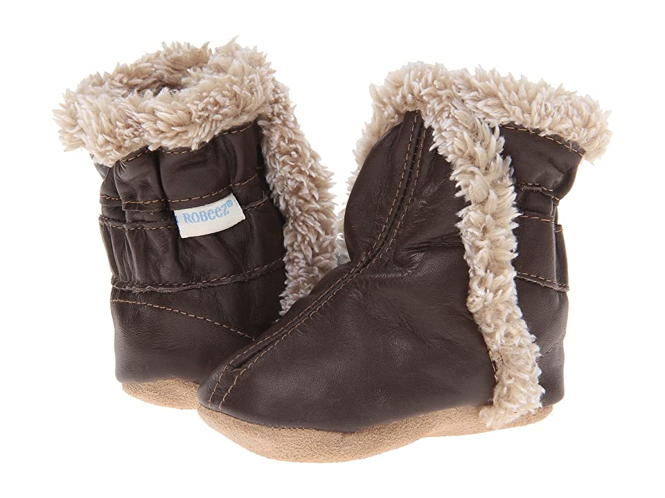 Robeez Classic Bootie (Infant/Toddler) (Brown) Boys Shoes