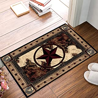 Infinidesign Vintage Style Felt Door Mats, 15.7x23.6 inch Indoor Entrance Doormat, Non-Slip Entryway Rug, Front Doormats f...