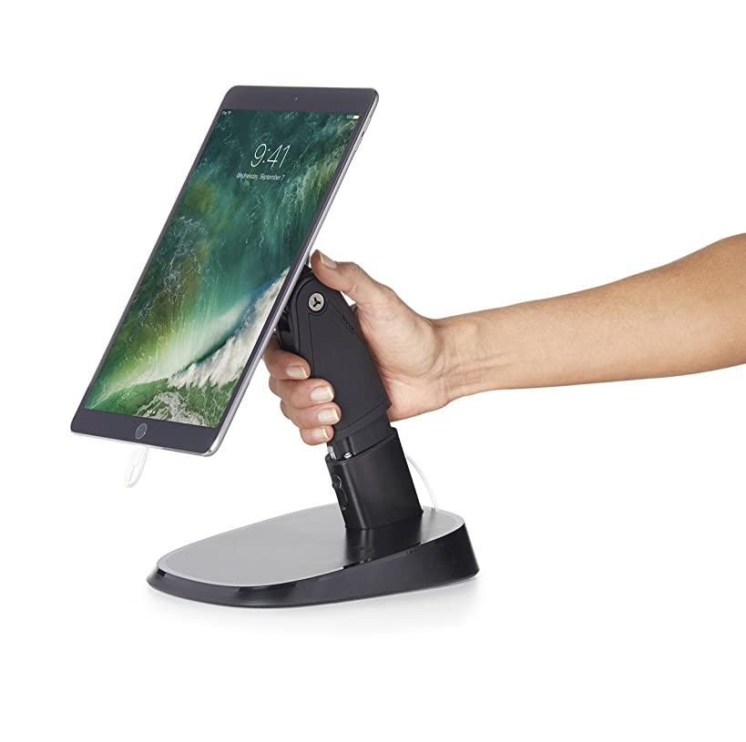 Durable, Portable Tablet Stand & Holder for Business Use. Fits ANY Size Tablet including all Apple iPads, iPad Minis, Samsung Tabs, Microsoft Surface, Kindle Fire, etc. Also can be a fixed kiosk.
