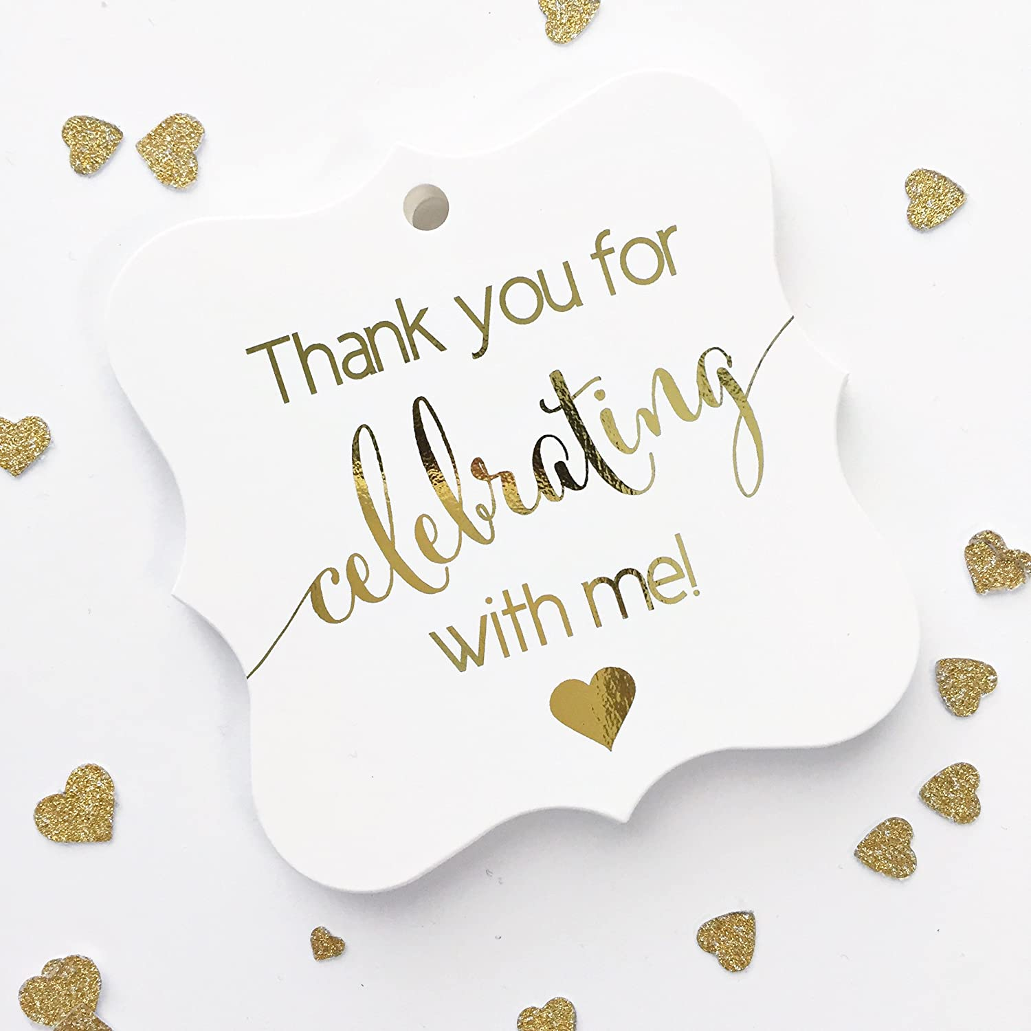 LLT-234-F Welcome Special Day Celebration Favor Tags Wedding//Celebration Shower Favor Tags Color Foil Customized Tags