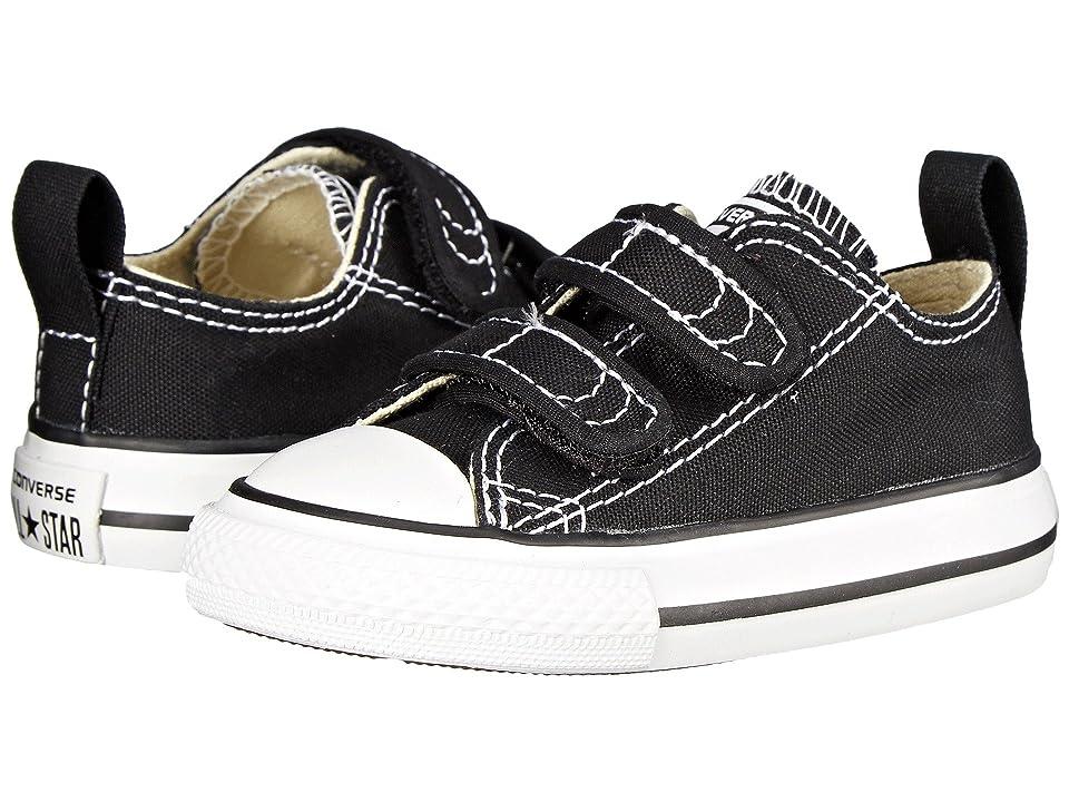 Converse Kids Chuck Taylor(r) 2V Ox (Infant/Toddler) (Black) Kids Shoes