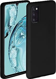 ONEFLOW Soft Case kompatibel mit Samsung Galaxy A41 Hülle aus Silikon, erhöhte Kante für Bildschirmschutz, zweilagig, weiche Handyhülle   matt Schwarz