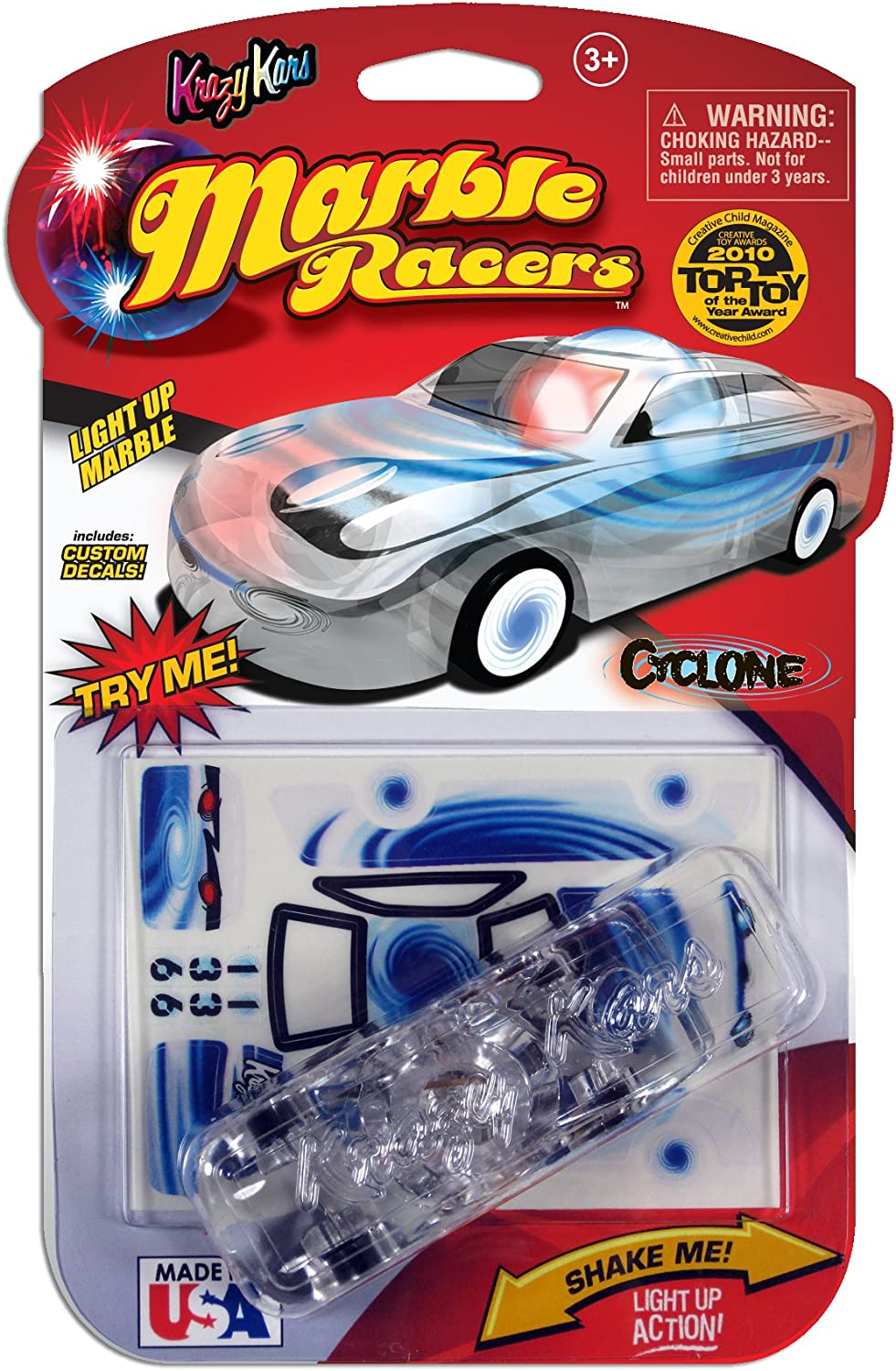 Krazy Kars Marble Racers Light up Cyclone Vehicle