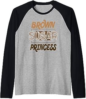 Brown Sugar Princess Black Pride Gift Raglan Baseball Tee