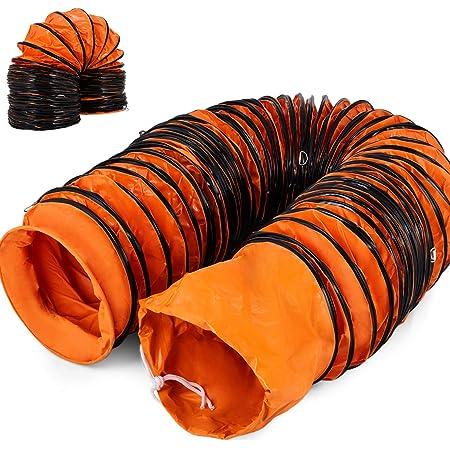 Mophorn Gaine Flexible en PVC Tuyau Flexible PVC pour Ventilateur dextraction 18po