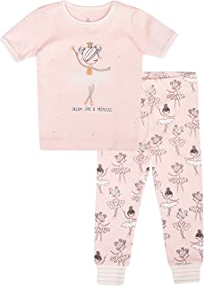 Cute and Cozy Softness Petit Lem Girls Holiday Baby Pajama Set Comfy