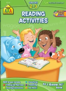 School Zone - Reading Activities 2-3 Workbook - 64 Pages, Ages 7 to 9, 2nd Grade, 3rd Grade, Comparing, Contrasting, Drawi...