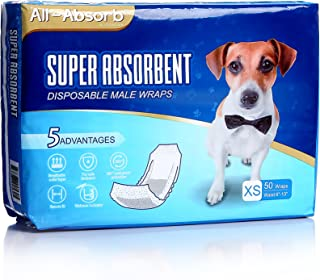 All-Absorb A27 Male Dog Wrap, 50 Count, Extra Small