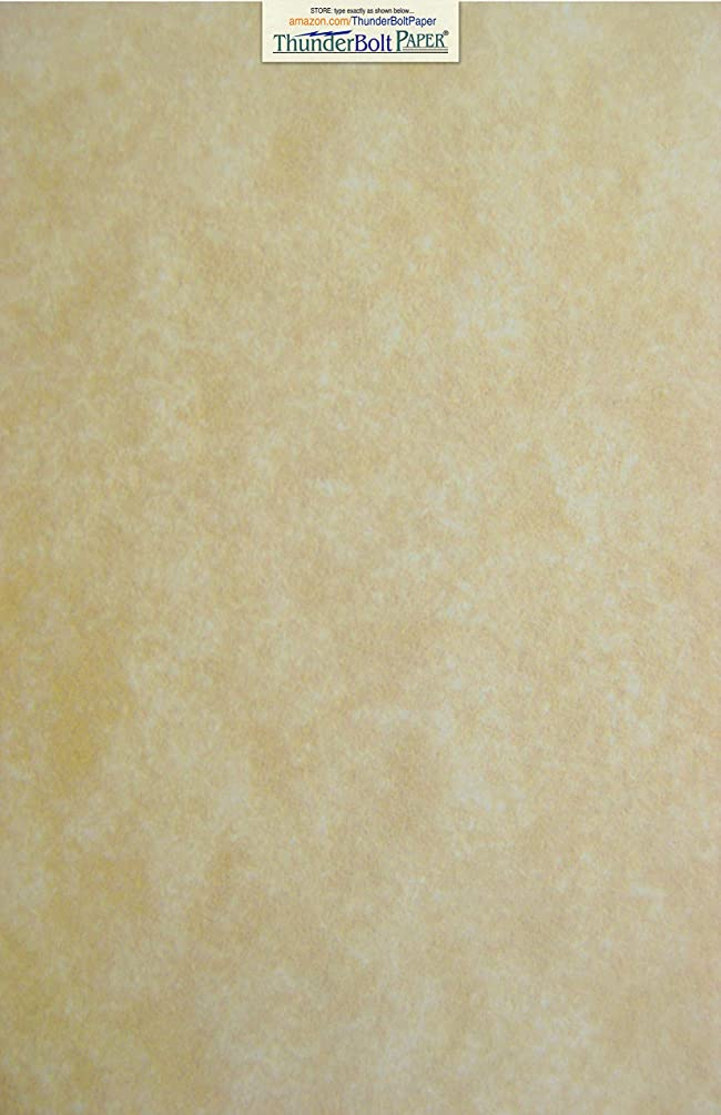 75 Old Age Parchment 60# Text (=24# Bond) Paper Sheets - 12 X 18 Inches Poster | Large Size - 60 Pound is Not Card Weight - Vintage Colored Old Parchment Semblance