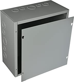 Hoffman ASE12X12X6 Pull Box, Screw Cover with Knockouts, Steel, 12