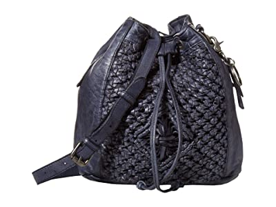 FRYE AND CO. Esme Bucket Bag (Navy) Handbags