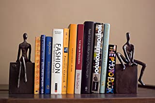 Danya B. ZI8051 Home and Office Shelf Decor – Metal Bookend Set – Man and..