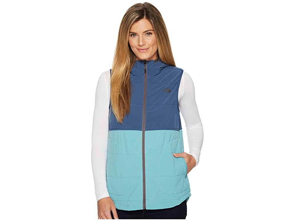 21ef1c737bb78 The North Face Mountain Sweatshirt Hooded Vest (Bristol Blue Shady Blue)  Women
