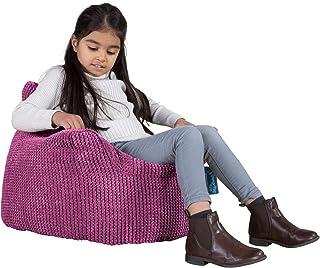 Lounge Pug®, Fauteuil Enfant, Pouf Enfant, Pompon Rose