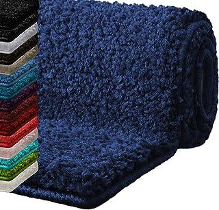 casa pura Alfombras baño Antideslizante | Alfombrilla baño | Unicolor | Ultra Absorbente | Muchos Colores y tamaños (Navy, 50x60 cm)