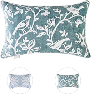 Hahadidi Throw Pillow Covers Decorative Pillowcases Cushion Cover for Sofa Bed,100% Polyester,Green,16 x 24 Inch(40x60cm),1 Piece