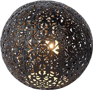 Lucide 46501/01/30 Paolo Lampe de Table, Métal, G9, 28 W, Noir, 14,5 x 14,5 x 13 cm