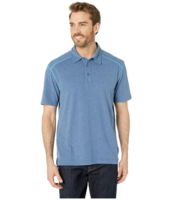 White Sierra Mill Valley Short Sleeve Polo (Big Sur Blue) Men