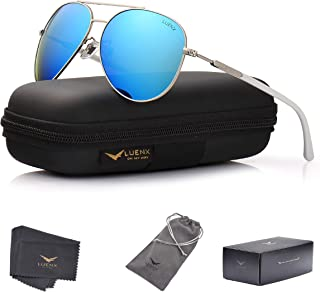 LUENX Women Aviator Sunglasses Polarized for men driving with case 60MM