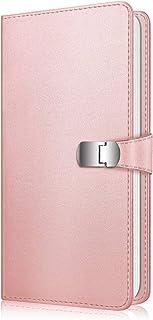 Fintie Álbum de Fotos para Fujifilm Instax - [Broche Magnético] 108 Fotos Álbum de Fotografías para Mini 11 Mini 9 Mini 8+ Mini 90 Mini 70 de Película de 3 Oro Rosa