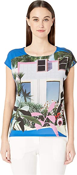 Picture Printed Short Sleeve Shirt