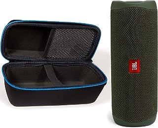 JBL Flip 5 Waterproof Portable Wireless Bluetooth Speaker Bundle with divvi! Protective Hardshell Case - Green photo