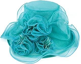 ChicHeadwear Womens Wide Brim Lace Organza Fashion Hat