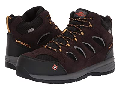 Merrell Work Windoc Mid Waterproof Steel Toe (Espresso) Men